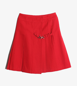 UNIQLO - 미우 미우 울 코튼 스커트   Made In Italy  Women M / Color - Red