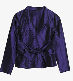 ETRO - 에트로 실크 100% 랩 자켓   Made In Italy  Women M / Color - Purple