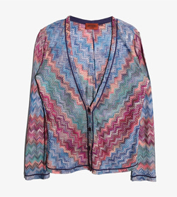 MISSONI - 미쏘니 레이온 브이넥 가디건   Made In Italy  Women M / Color - Etc