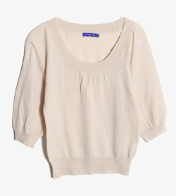 JPN -  울 라운드 니트   Women M / Color - Beige