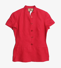 IRENE VAN RYB -  린넨 버튼 자켓   Made In France  Women M / Color - Red