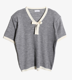 DAILY CLOTHES -  울 아크릴 브이넥 니트   Women M / Color - Gray