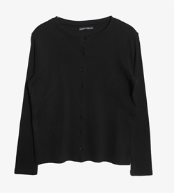 VASAGIA COLLECTION -  폴리 코튼 라운드 가디건   Women M-L / Color - Black