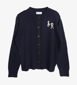 GALAND -  아크릴 라운드 가디건   Made In Usa  Women L / Color - Navy
