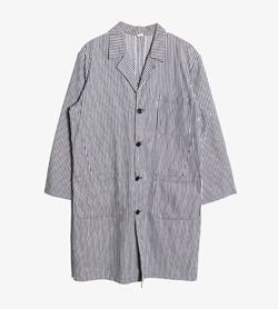 JPN -  코튼 스트라이프 맥시 코트   Made In Italy  Man XL / Color - Stripe