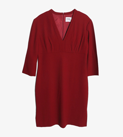 GIANFRANCO FERRE - 지안프랑코페레 아세테이트 레이온 V넥 원피스   Made In Italy  Women M / Color - Red