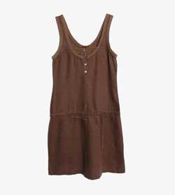 MAX&CO - 막스앤코 린넨 슬리브리스 원피스   Made In Italy  Women S / Color - Brown