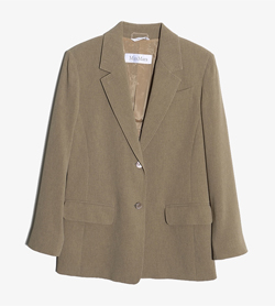 MAXMARA - 막스마라 트리아세테이트 폴리 자켓   Made In Italy  Women S / Color - Brown
