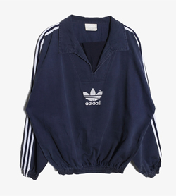 ADIDAS - 아디다스 코튼 오픈넥 맨투맨   Made In Uk  Man XL / Color - Navy