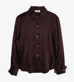 MARCELLO -  실크 100% 블라우스   Made In Italy  Women M / Color - Wine