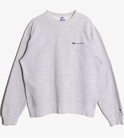 CHAMPION - 챔피온 코튼 로고 맨투맨  Made In Usa  Unisex L / Color - Gray