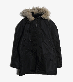 ALPHA INDUSTRIES - 알파인더스트리 폴리 N3B 야상 점퍼   Made In Usa  Man L / Color - Black