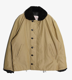 GOLDEN FLEECE - 골든 플리스 나일론 덱 자켓   Made In Usa  Man M / Color - Beige