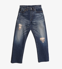 GOWEST RARE DENIM -  데님 데미지 팬츠   Man 30 / Color - Denim
