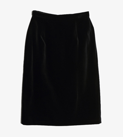 LAURA ASHLEY - 로라 애슈리 벨벳 슬릿 스커트   Made In Usa  Women 26 / Color - Black