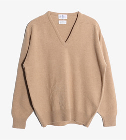 LE CLUB -  울 브이넥 니트   Made In Scotland  Man M / Color - Beige