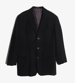 HILTON - 힐톤 울 레이온 스트라이프 자켓  Made In Italy  Man L / Color - Black