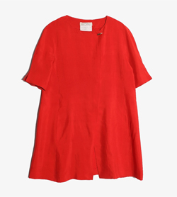 SANLORENZO - 산 로렌소 실크 100% 원피스  Made In Italy  Women L / Color - Red