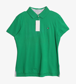 TOMMY HILFIGER - 타미힐피거 코튼 Pk 티셔츠 (새 제품)  Made In Mexico  Women M / Color - Green