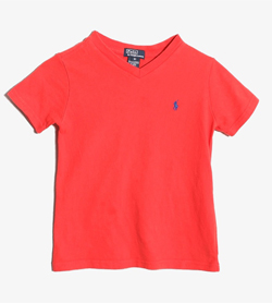 POLO BY RALPH LAUREN - 키즈 폴로바이랄프로렌 브이넥 티셔츠  Kids 5 / Color - Red